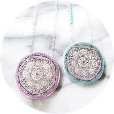 Www Handmade Au - henna mandala illustrated necklace unique jewellery