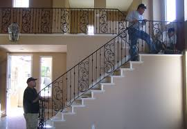 Banister Rails For Stairs Ornamental Wrought Iron Staircase Railing Orange County Ca