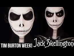 jack skellington nightmare before christmas makeup tutorial