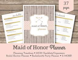 of honor planner of honor planner bridesmaid wedding planner wedding