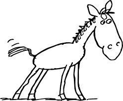 horse baby farm animal coloring page wecoloringpage
