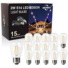 novelty lights 25 pack led s14 outdoor patio edison replacement