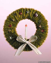 easy ornaments pipe cleaner wreath martha stewart