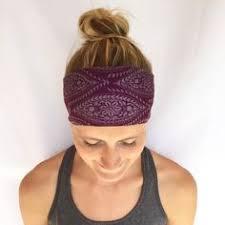 yoga headband tutorial black textured cotton wide headband yoga head wrap wide headbands
