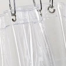 Drapery Liners Grommet Vinyl Shower Curtain Liner Clear Walmart Com