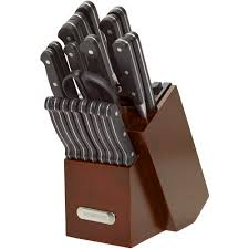 farberware edgekeeper 21 piece forged triple riveted knife set