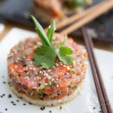 tartare cuisine inspired tuna salmon tartare the healthy foodie