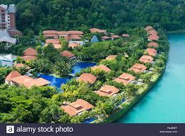 sentosa villas aerial view singapore stock photo royalty free