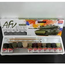 academy military vehicle enamel 12 color paint set matt plastic