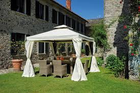 giardini con gazebo gazebo professionale con tende esagonale quadrato 3 x 3 gaz 035
