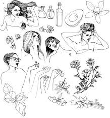 14 best hair u0026 beauty sketches images on pinterest sketches