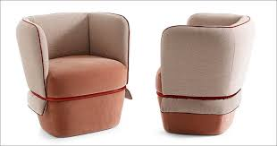 Upholstered Armchair The Chemise Armchair Has A Metal Tube That Holds The Wrap Around