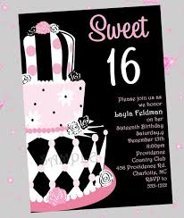 birthday invites wonderful sweet 16 birthday invitations design