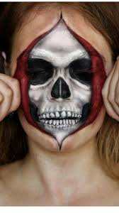 Skeleton Face Painting For Halloween by Best 10 Cool Face Paint Ideas On Pinterest Black Face Paint