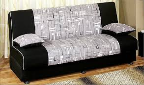 Convertible Sofa Beds Detroit Tri Tone Fabric Convertible Sofa Bed W Storage Space