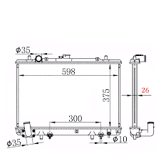 radiator mitsubishi triton mk 3 0l 6cyl v6 10 1996 6 2006 manual