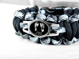 custom paracord bracelet footprint bracelet footprint