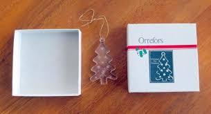 royal brierley crystal christmas ornament u0026 original box 4793