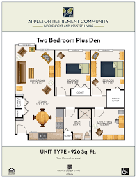 floor plans appleton retirement communityappleton retirement