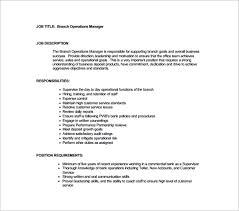 risk description template 10 operation manager description templates free sle