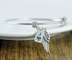personalized remembrance jewelry personalized memorial gift idea sympathy gift angel wing