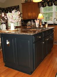 kitchen islands black painting an oak island black hometalk