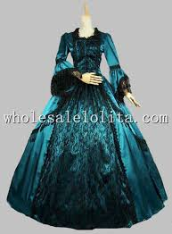 Ball Gown Halloween Costume Marie Antoinette Victorian Period Dress Satin Lace Ball Gown Prom