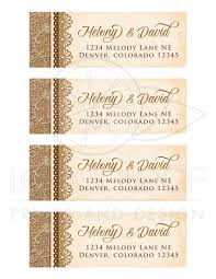 wedding mailing labels rustic burlap lace