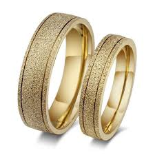 wedding rings couple images New frosted couple lovers ring 18k gold engagement wedding rings jpg