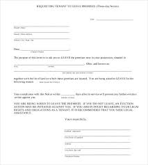 30 day notice letter template 30 day notice to vacate letter to