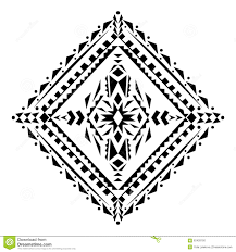 vector tribal black and white decorative pattern for design aztec