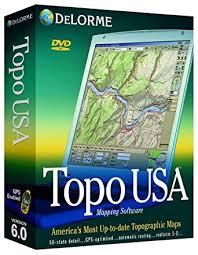 usa map gps delorme topo usa 6 0 national maps dvd