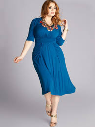 Flattering Plus Size Clothes High Neck Plus Size Royal Blue Smooth Chiffon Half Sleeves Full