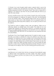cover letter examples teacher lukex co