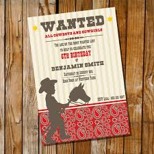 cowboy party invitation cloveranddot com