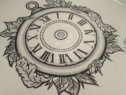 clock tattoo design google search art pinterest clock