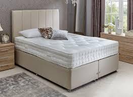 Spring Bed by Insignia Burnham Pocket Spring Divan Bed Medium Firm Beige