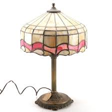 circa 1920 tiffany style stained glass table lamp ebth