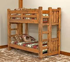 Rustic Bunk Bed Solid Wood Bunk Bed Barn Wood Bunk Bed Rustic Bunk Bed Lodge