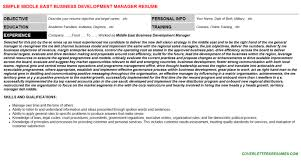 middle east business development manager cover letter u0026 resume