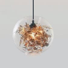 Flower Pendant Light Pendant Lights Tangle Globe Pendant Gold Silver Modern Pendant