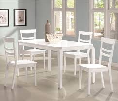 5 dining room sets 5 dining table set in white finish coaster 104361 regarding