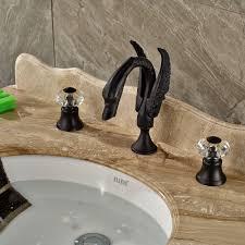Swan Bathroom Faucet Oil Rubbed Bronze Crystal Handles Swan Bathroom Faucet 8