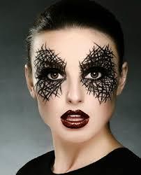 Pretty Makeup For Halloween by Black Face Makeup Black Gold Makeup Model Closeup Face Face