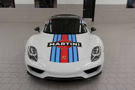 spyder porsche price 918 spyder weissach pkg in martini livery for sale