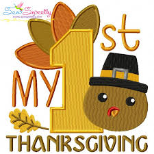 my 1st thanksgiving machine embroidery design for thanksgiving