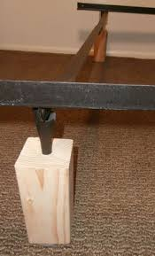 Bed Risers For Metal Frame Diy Bed Risers Bed Risers Bedrooms And