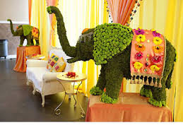 Indian Wedding Planners Nj Gorgeous Moss Elephant Centerpieces Perfect For An Indian Wedding