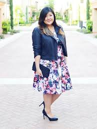 fall florals curvy chic
