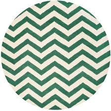 Round Chevron Rug Safavieh Chatham Teal Ivory 5 Ft X 5 Ft Round Area Rug Cht715t